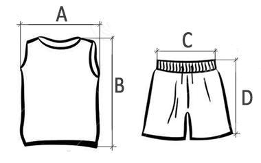 Схема размеров детского комплекта